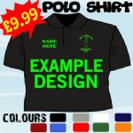 MENS STAG DO PARTY PERSONALISED LOGO DESIGN PICTURE LOGO WRITING T POLO SHIRT